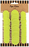 Party Partners Design Circle Ribbon Gift Wrap Accent or Wall Decoration, Lime