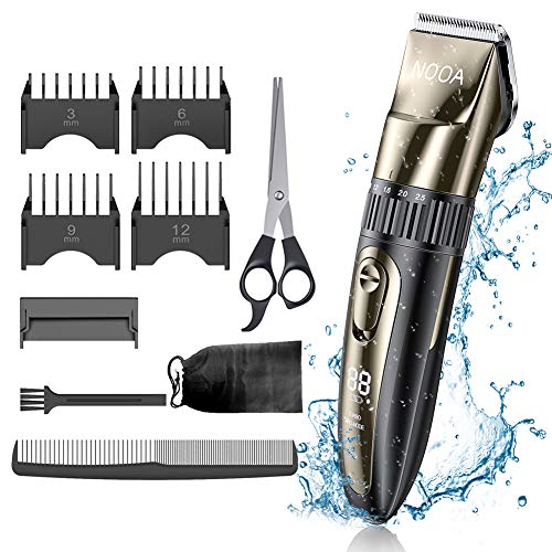 Mens Electirc Waterproof Hair Trimmer Clippers Beard Trimmer Rechargable Professional Baber Hair Cutter Shaving Grooming Machine Kit