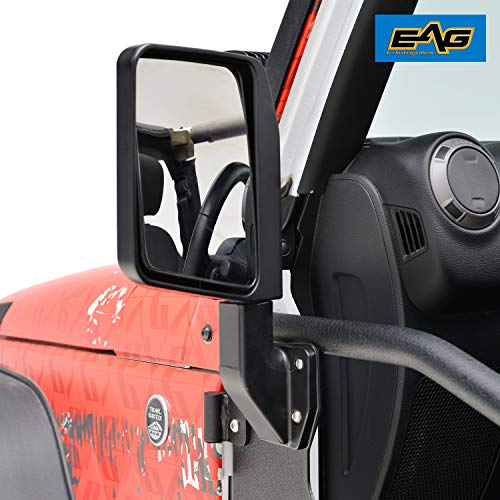 EAG Reflection Mirrors Side View Mirror Fit for 07-18 Jeep Wrangler -