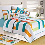 C&F Home 82011.8686 Zuma Bay for Q Quilt, Full/Queen, White