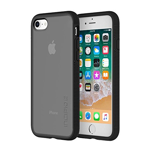Incipio Octane iPhone 8 & iPhone 7 Case with Textured Bumper and Hard Shell Back for iPhone 8 & iPhone 7 - Smoke/Black from Incipio