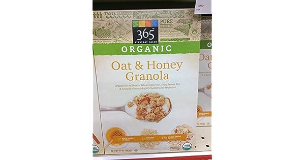 365 Everyday Value orgánicos Avena & Miel Granola: Amazon ...