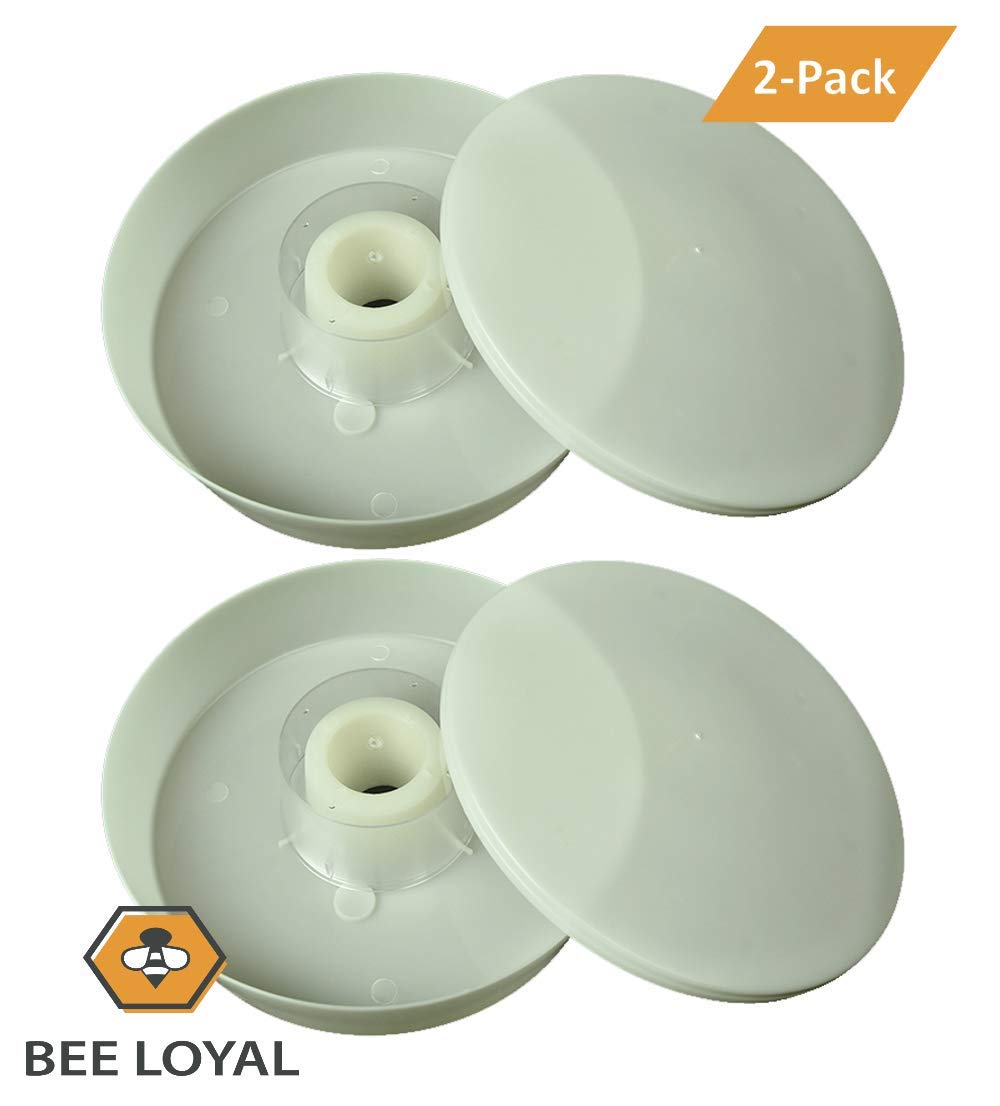 Easy to Use 2 Pack Bee Loyal Rapid Round Bee Feeder