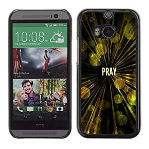 Planetar® ( Bible Verse-PRAY ) HTC ONE(New) / M8 Fundas Cover Cubre Hard Case Cover