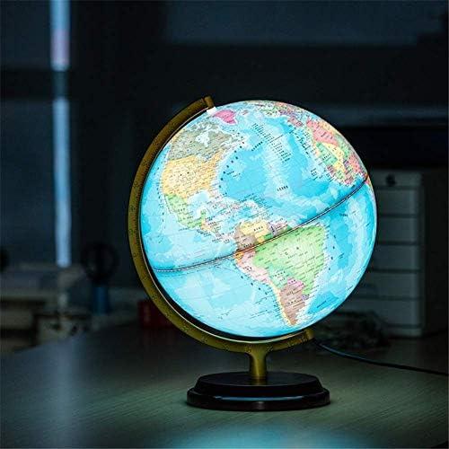 2-in-1 LED-wereldbollen, desktopdecoratie Geografische interactieve aardbollen voor kinderen en volwassenen voor educatief speelgoed, 32 cm / 12,59 inch