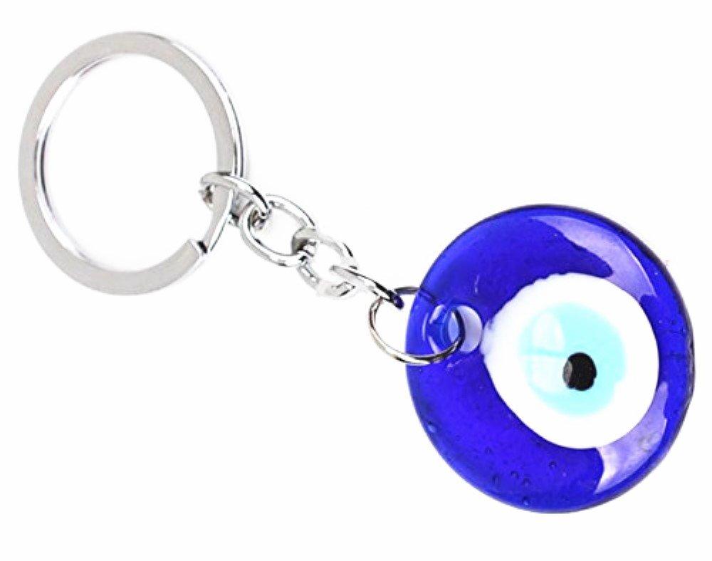 Amazon.com: jewelbeauty Classic mal de ojo Llavero azul ...