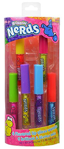 [Nerds Lip Gloss Canister, 6 Count] (Cherry Apple Costumes)
