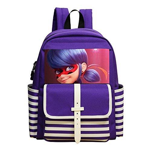 JIAYOU Miraculous Ladybug Backpacks Daypack Shoulder Bag School (Lady Bug Custome)