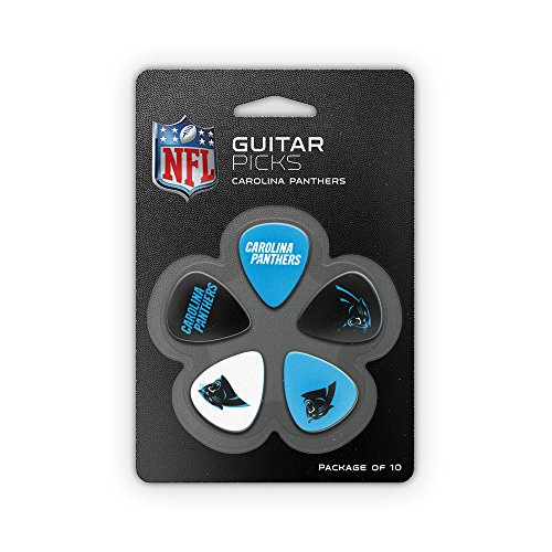 NFL Carolina Panthers Nflguitar Picks - Carolina Panthers, Blue, One (Nfl Carolina Panthers Heart)