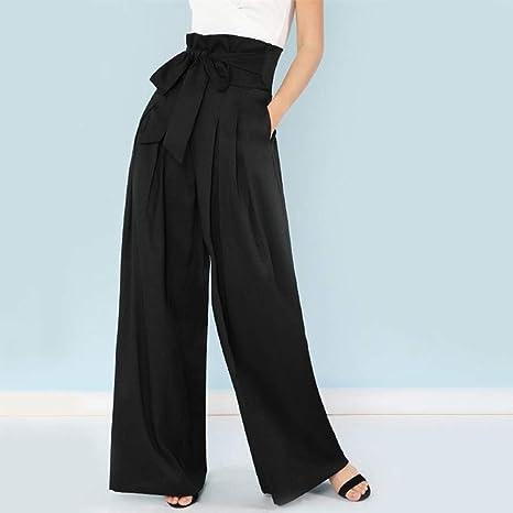marchio famoso attraente e resistente ultimo di vendita caldo AKDYH Pantaloni da Donna Pantaloni A Palazzo con Pieghe ...