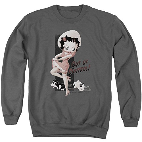 (Betty Boop Cartoon Out Of Control Adult Crewneck)