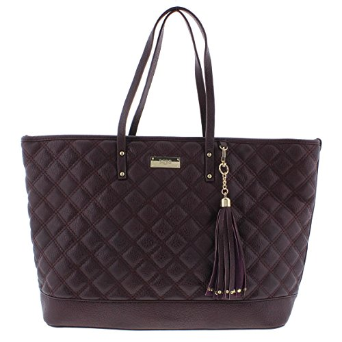 bcbg-paris-womens-quilted-faux-leather-tote-handbag-red-large