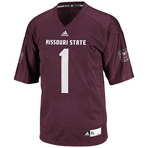 NCAA Missouri State Bears Men's 3-Stripe Football Jersey, X-Large, Maroon ()
