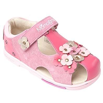 Amazon.com | Momo Grow Girls Pansies Leather Sandal Shoes | Flats