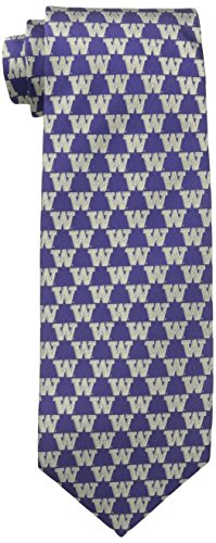 NCAA Washington Huskies Repeating Primary Tie, One Size, Purple