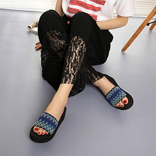 Zapatos Tacones de Mujer Flip Flops Promocionales Sandalias Calzado Al Verano Ofertas Interior Libre Playa Nacional Chancletas Estilo de de Aire tRTwUFq