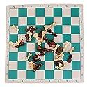 ノーブランド品  旅行ゲームセット ポータブル チェス ボード ロールアップ おもちゃ - 43×8cmの商品画像