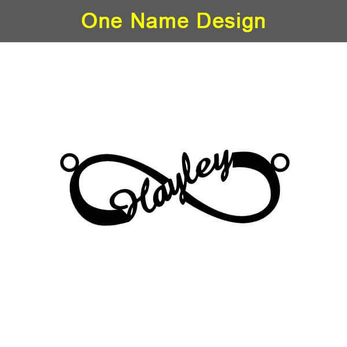 RESVIVI Eternal Infinity Sterling Silver Personalized Name Necklace Custom Made Any Name Pendant Necklace