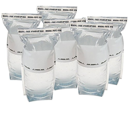 6 Whirl-Pak 1 Liter Stand-up Bags: Emergency Water Collection for Survival Kit
