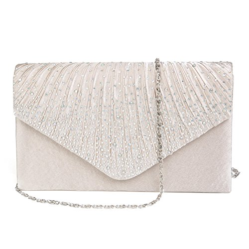 Bag Satin Type Outputs Wedding Handbag Bag Party beige Beige Clutch Womens OwBqIax