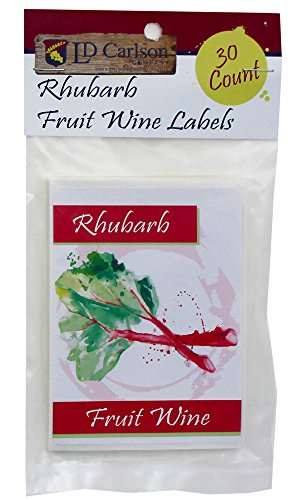 Rhubarb Fruit Wine Labels - Fruit Labels Wine