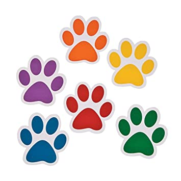 Amazoncom Paper Paw Print Cutouts 48 Pc Home Kitchen