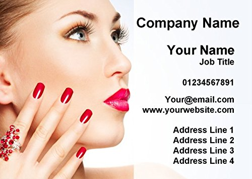 Nail Beauty Hair Spa Massage Personalized Business Cards