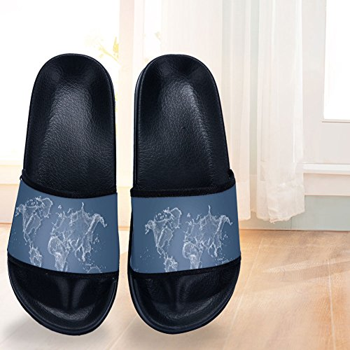 Wave Buteri Womens Drying Blue for Slippers Non Water Slippers Black Slip Quick 4TB4Uw