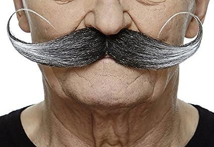 Mustaches Self Adhesive, Novelty, Fake Capt' Hook Fake Capt' Hook Salt and Pepper Color