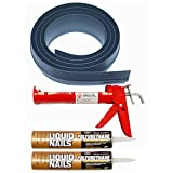 Auto Care Products Inc 51018 18-Feet Tsunami Seal Garage Door Threshold Seal Kit, Gray