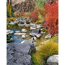 USA, Oregon Fall colors along John Day River - Fine Art Print on CANVAS - Gallery Wrapped - READY TO HANG - 24 x 30 Inch