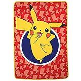 Pokemon Pikachu Character - Manta de Microfibra Suave para niños, tamaño Doble, 182 x 228 cm, Color Rojo