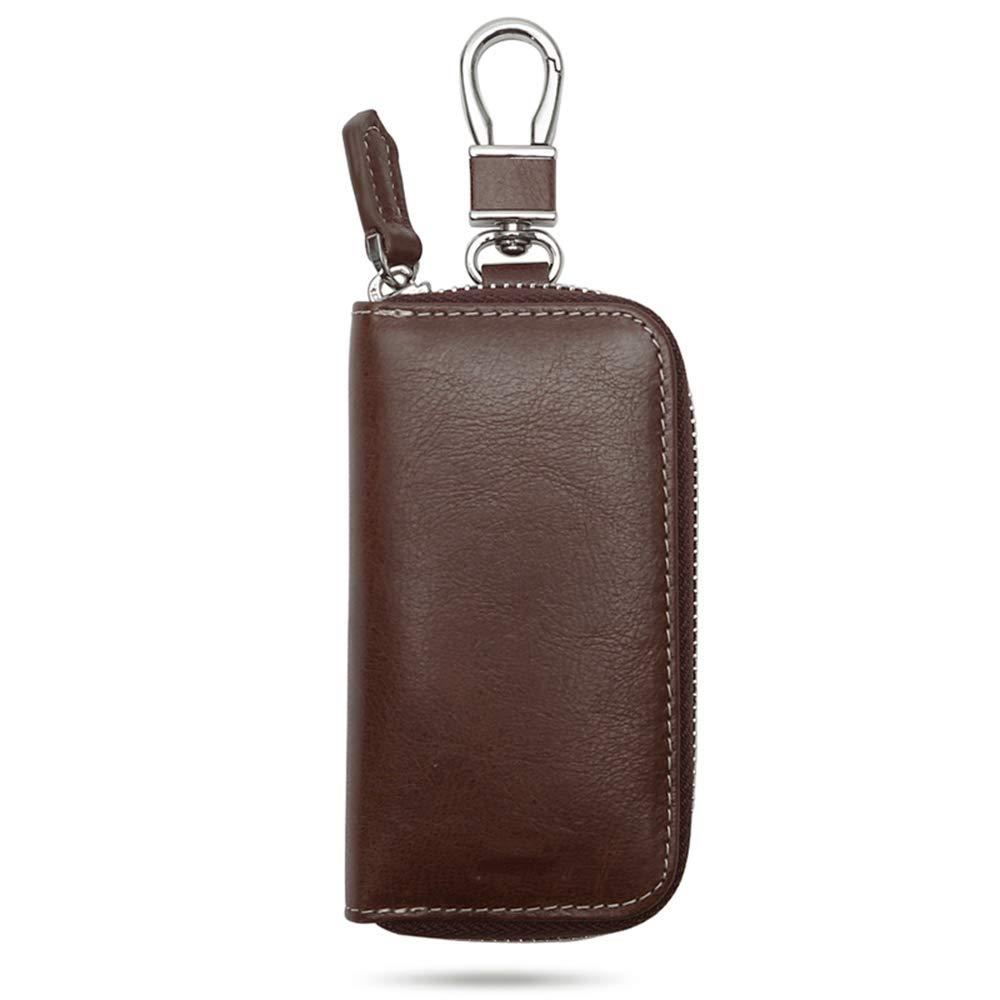 El estuche de cuero para llaves con cremallera, paquete ...