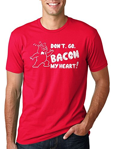 Crazy Dog TShirts - Women's Don't Go Bacon My Heart T Shirt Funny Bacon Shirt Pig Tee For Women - Divertente Donna Magliette