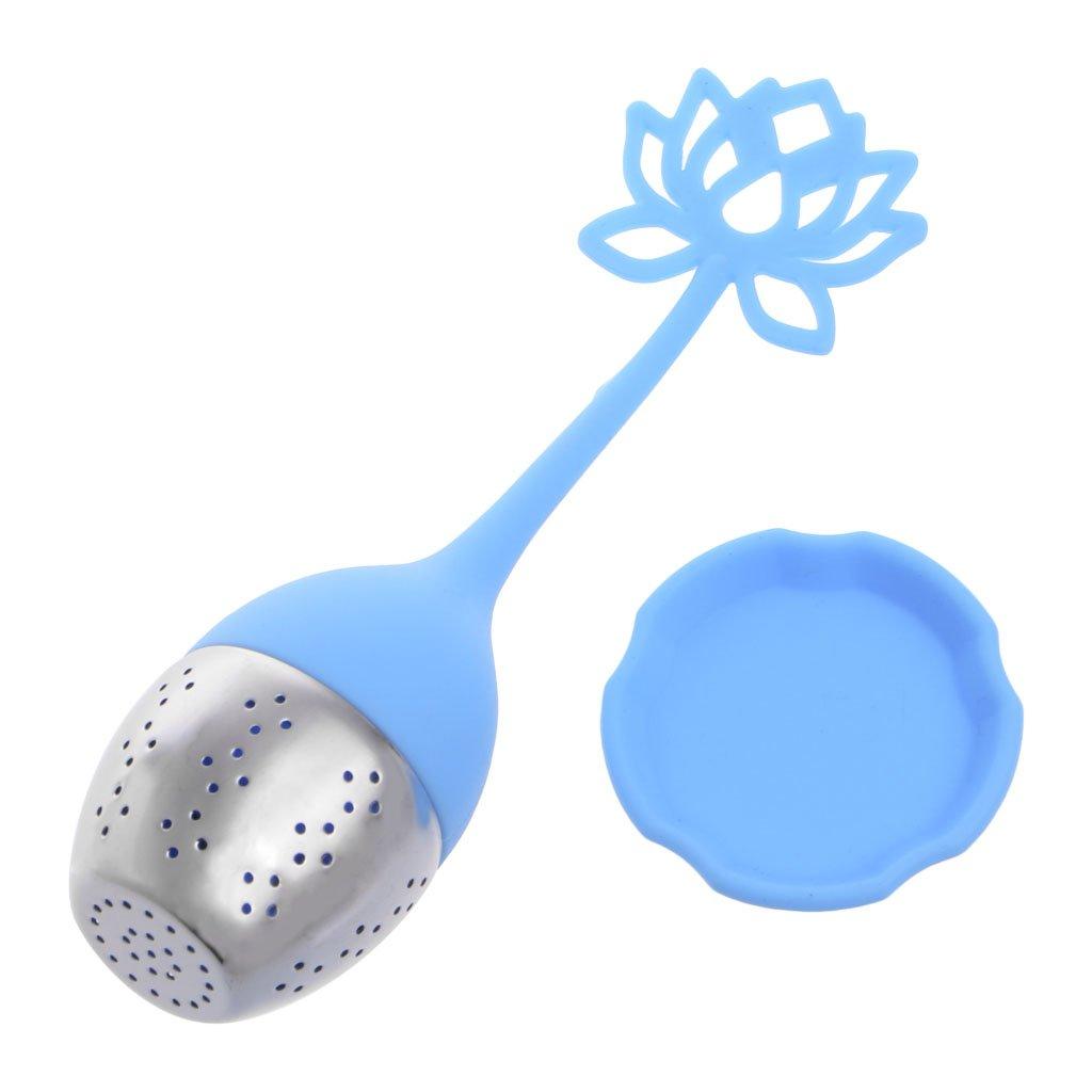 MB-LANHUA Silicona Lotus Loose Tea Filter Infusor de t/é Filtro de Acero Inoxidable Difusor Colador Regalos Rojo
