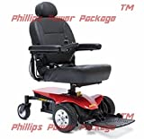 Pride Mobility - Jazzy Elite ES - Front-Wheel Drive Power Chair - Jazzy Red - PHILLIPS POWER PACKAGE TM - TO $500 VALUE