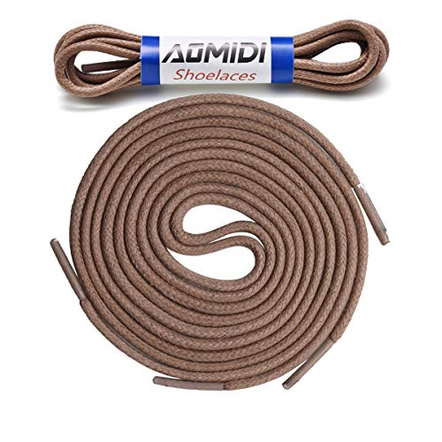 Round Waxed Shoelaces (2 pair) - for Oxford Shoes Round Dress Shoes Boots Leather Shoe Laces (44