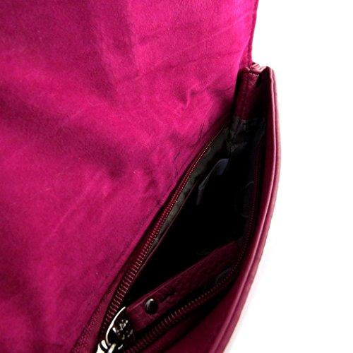 Bag designer Lulu Castagnettefucsia (2 scomparti).