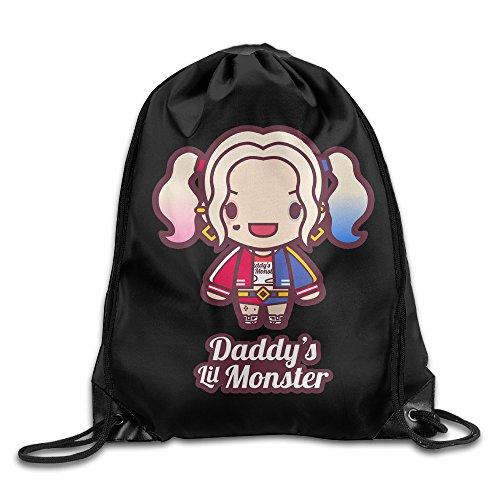 Daddys Little Monster Gym Bag Travel Sports Drawstring Backpack
