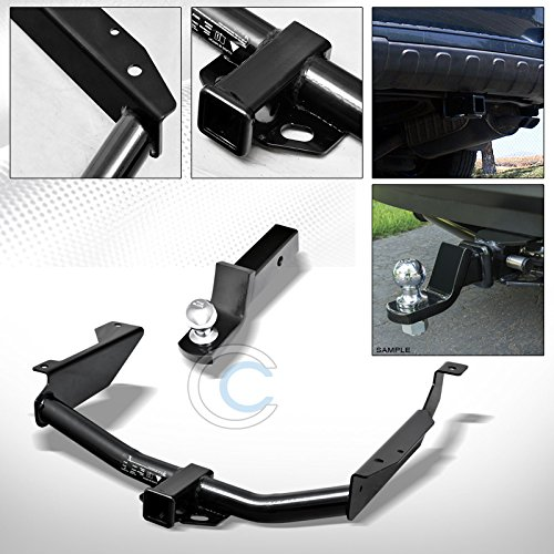 - R&L Racing Black Finished Class 3 Trailer Hitch Loaded Ball Bumper Tow Kit 2