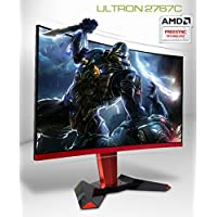 Hansung ULTRON 2767C CURVED 144 27 Inch FHD Curved Gaming Monitor (1920 x 1080) PVA, 144Hz, 1ms, Flicker Free, Low Blue Light, AMD FreeSync, CrossHair, HDMIx2, DP