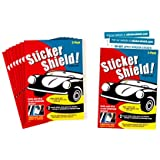 Sticker Shield - Windshield Sticker Applicator for Easy Application, Removal and Re-Application from Car to Car - 8 Packs of 4 inch x 6 inch Sheets (Total of 16 Sheets)