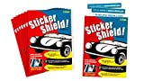 Automotive : STICKER SHIELD - Windshield Sticker Applicator For Easy Application, Removal and Re-application From Car to Car - 8 packs of 4 inch x 6 inch sheets (Total of 16 sheets)