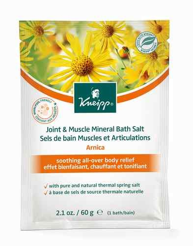 Kneipp JOINT & MUSCLE MINERAL BATH SALT All Over Body Relief ARNICA 60g