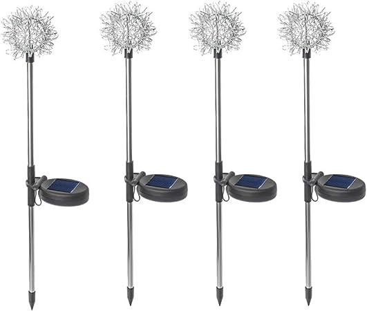 WXQP Luces solares, lámpara de Alambre de Hierro de Diente de león, Ideal para el jardín,