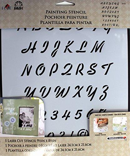 FolkArt Large Painting Stencil, 30736 Breezy Script Alphabet