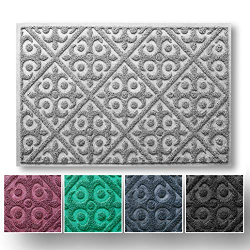 Entry Rug for Indoor and Outdoor Entryway | No-Shed Easy-Clean Welcome Mat | Shoe Scraper for Front Door Protects Floor | Waterproof and Anti-Slip ()