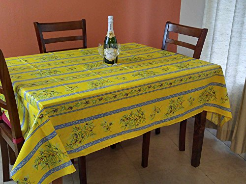 French Provencal Tablecloth Acrylic Coated 100% Cotton (Rectangular 61