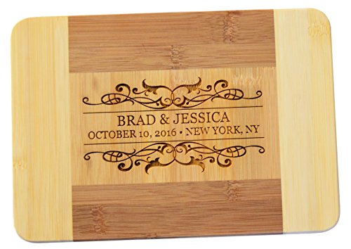 Personalized / Custom Engraved Bamboo Cutting / Cheese Board - 9