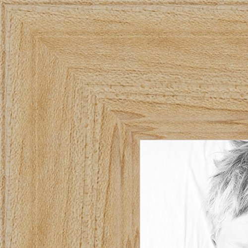 ArtToFrames 18x24 inch Clear Finish on Hard Maple Wood Picture Frame, WOM0066-60823-YCLR-18x24